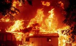 blazing fire california