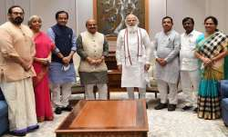 The new chief minister also hosted a lunch at Hotel Ashoka