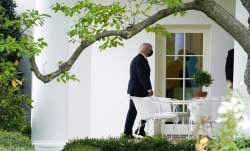 President Joe Biden arrives at the White House upon arrival