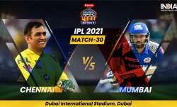LIVE Cricket Score, IPL 2021 Chennai Super Kings vs Mumbai Indians: Live Score and Updates