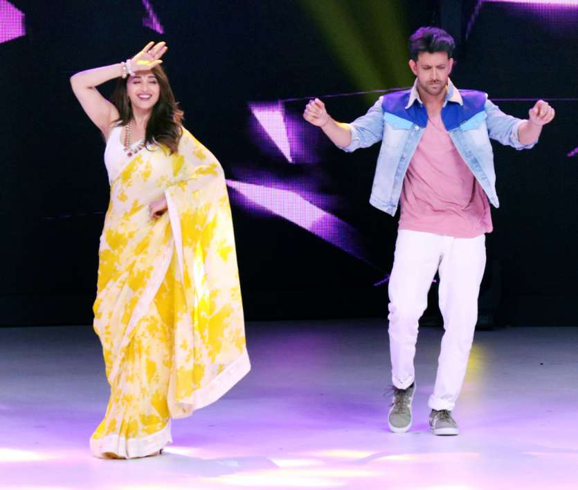 Bollywood's ace dancers Madhuri Dixit and Hrithik Roshan.