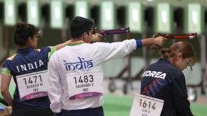 The Indian pair of Saurabh Chaudhary and Manu Bhaker caved
