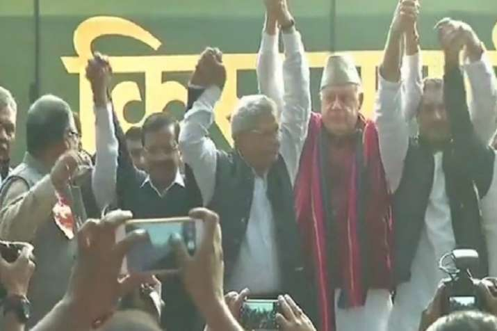 Opposition leaders including Rahul Gandhi, Arvind Kejriwal