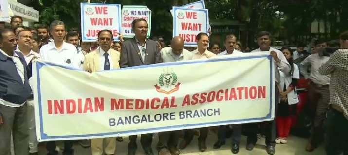 Doctors and nurses in state-run hospitals, who are IMA